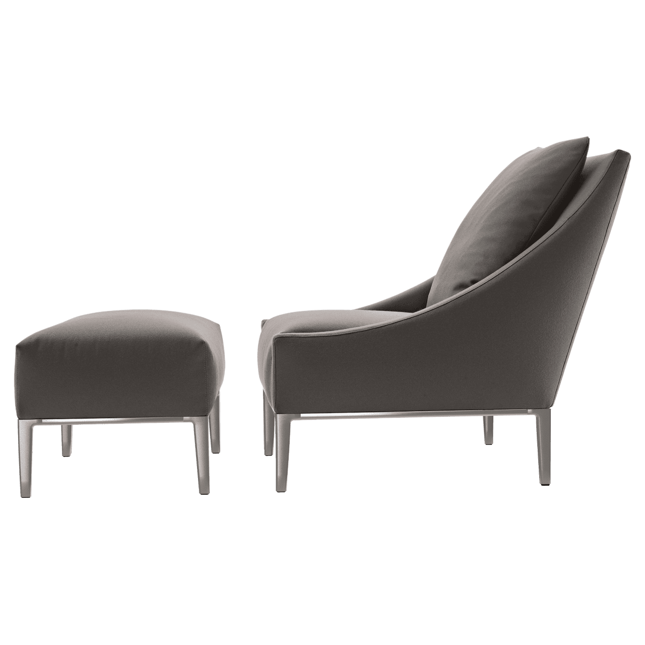 Jean Lounge Sessel mit Hocker