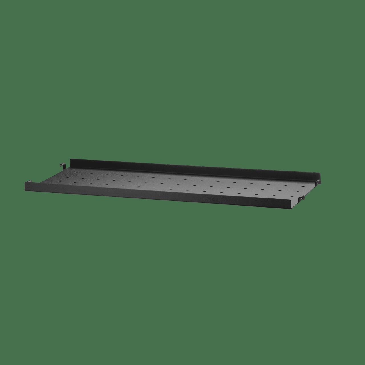 Regalboden aus Metall mit niedriger Kante