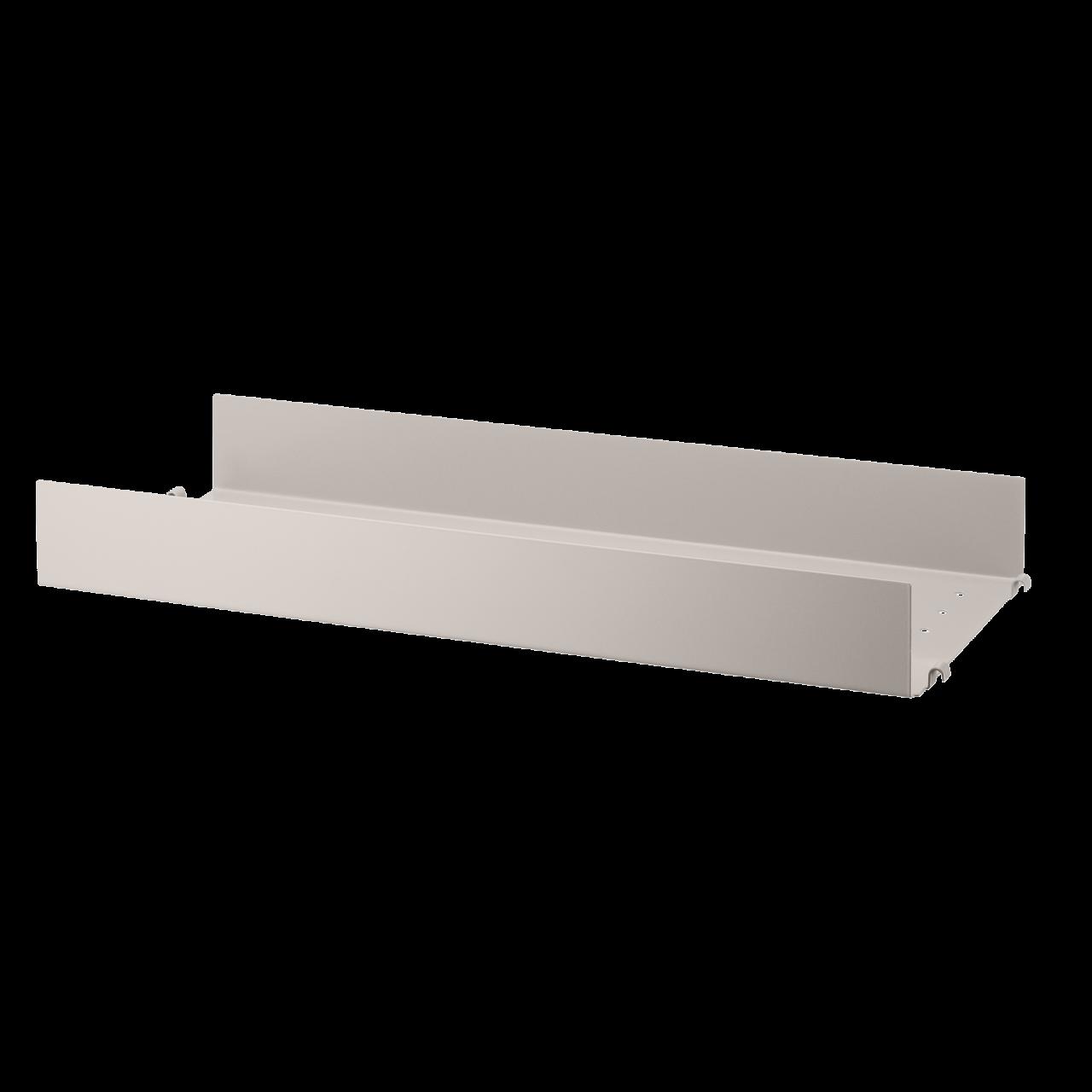 Regalboden aus Metall mit hoher Kante