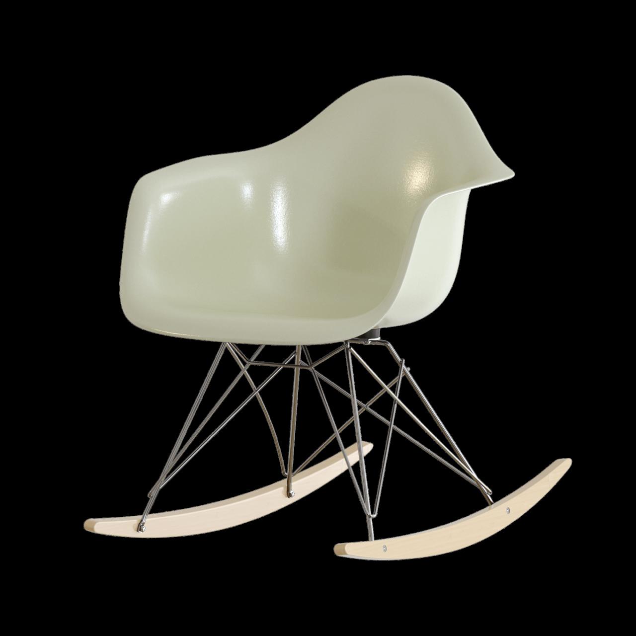 Eames Fiberglass Armchair RAR Schaukelstuhl