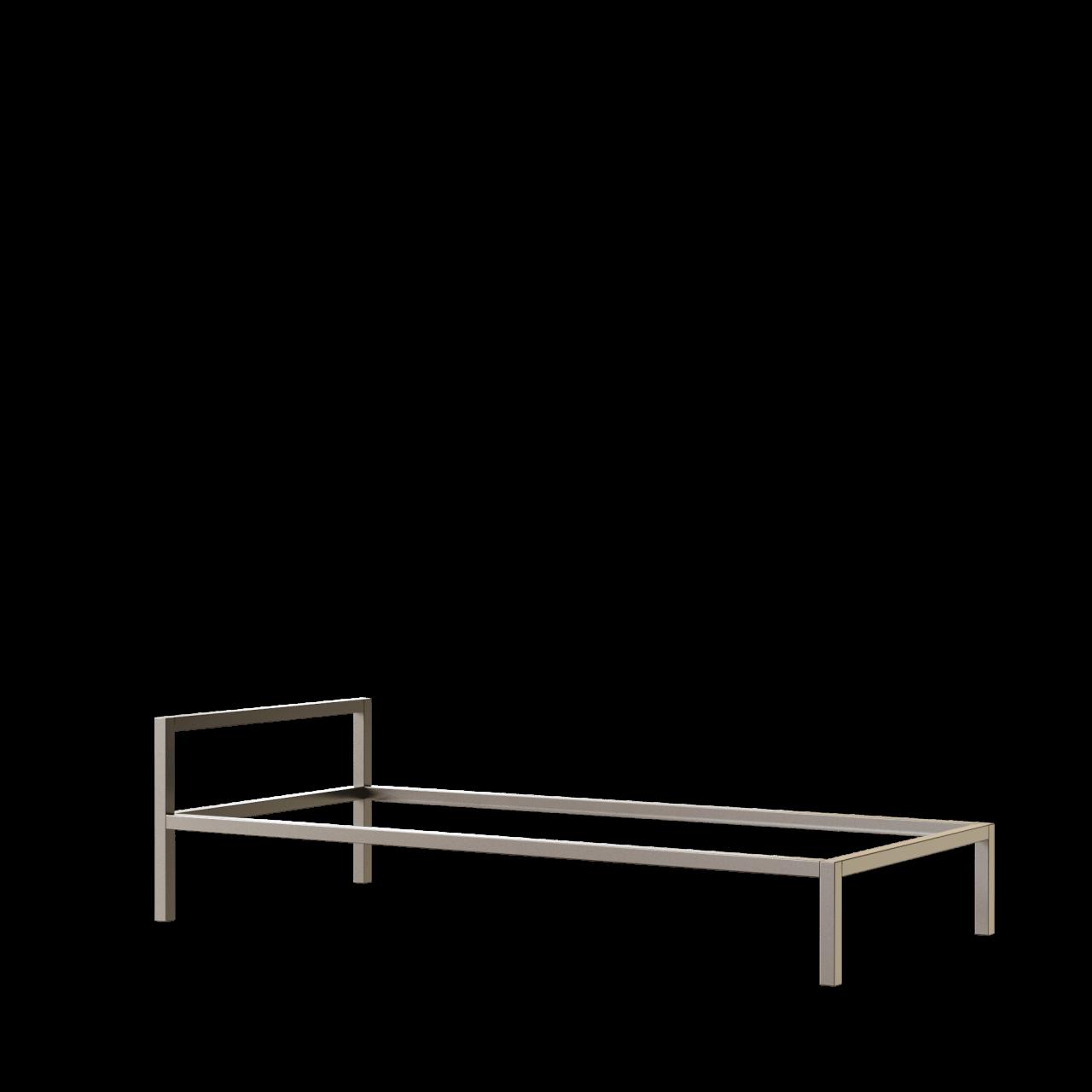Aluminium Bett mit Kopfteil