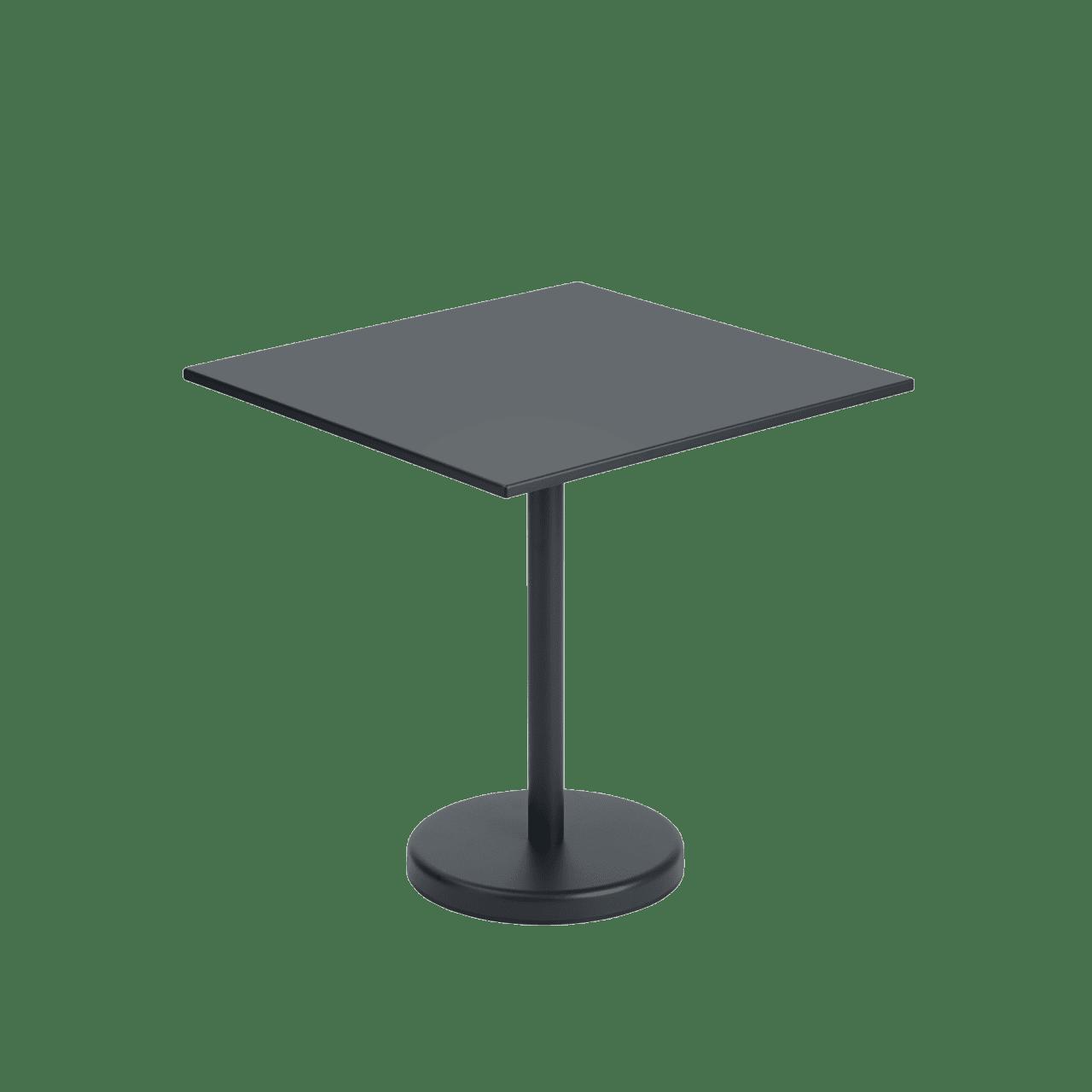 Linear Steel Café Tisch quadratisch