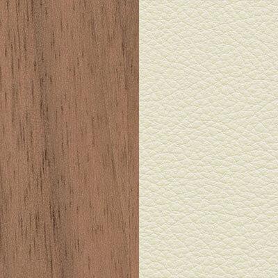 Nussbaum, weiß pigmentiert/Leder Premium snow