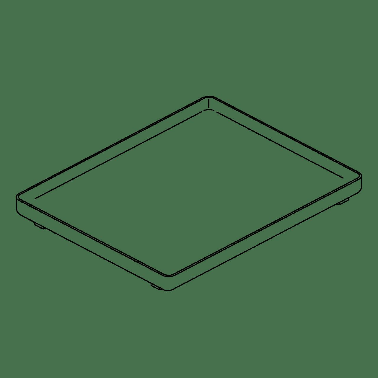 Tablett, Kunststoff weiß