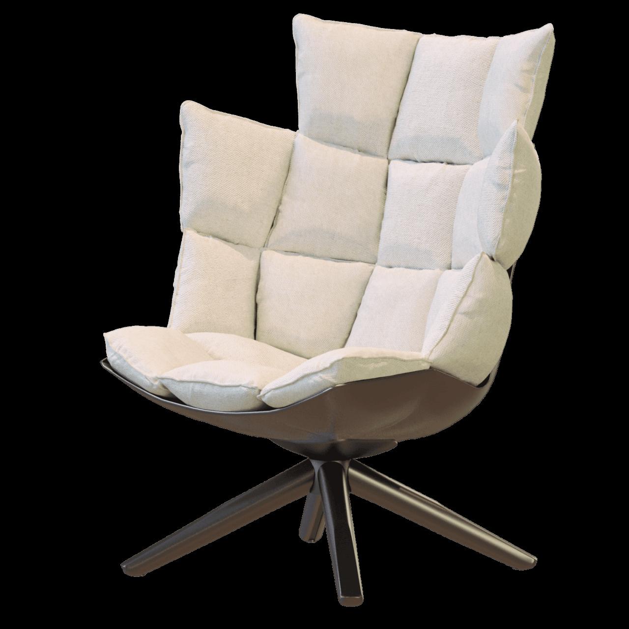 Husk Sessel mit umschließender Rückenlehne und Kopfstütze