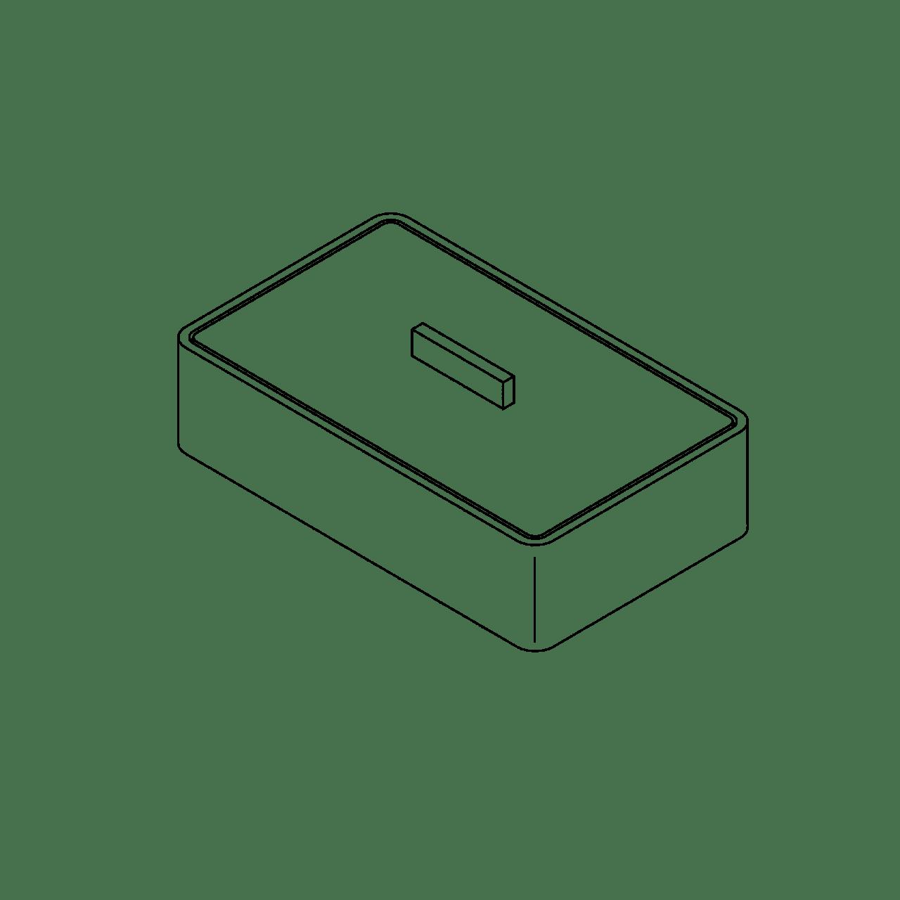 Porzellan-Schale mit Deckel