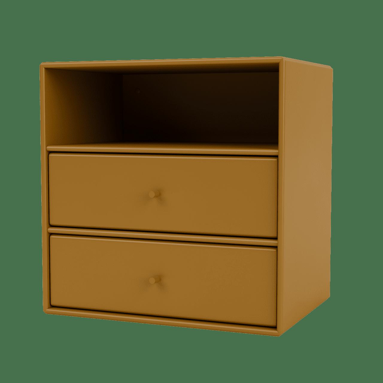 Mini 1006 Wandregal mit zwei Schubladen
