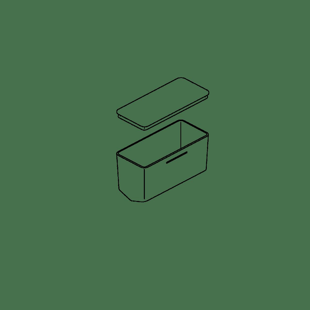Vorratsbehälter für funktionale Prismen