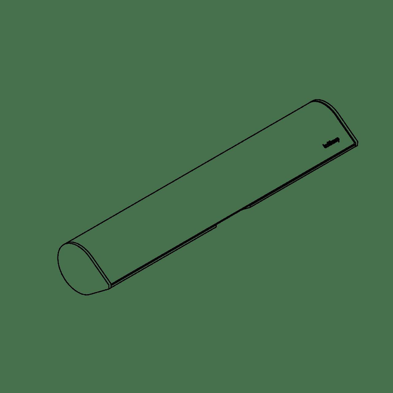 Folienrollenhalter Aluminium für funktionale Prismen