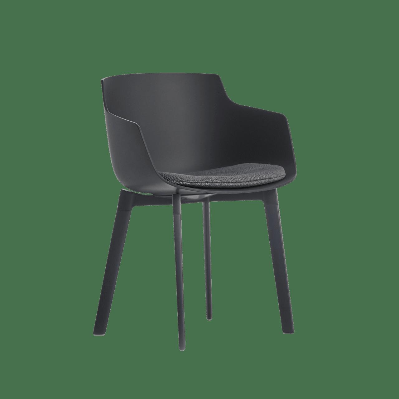 Flow Slim Color Armlehnstuhl mit Sitzkissen