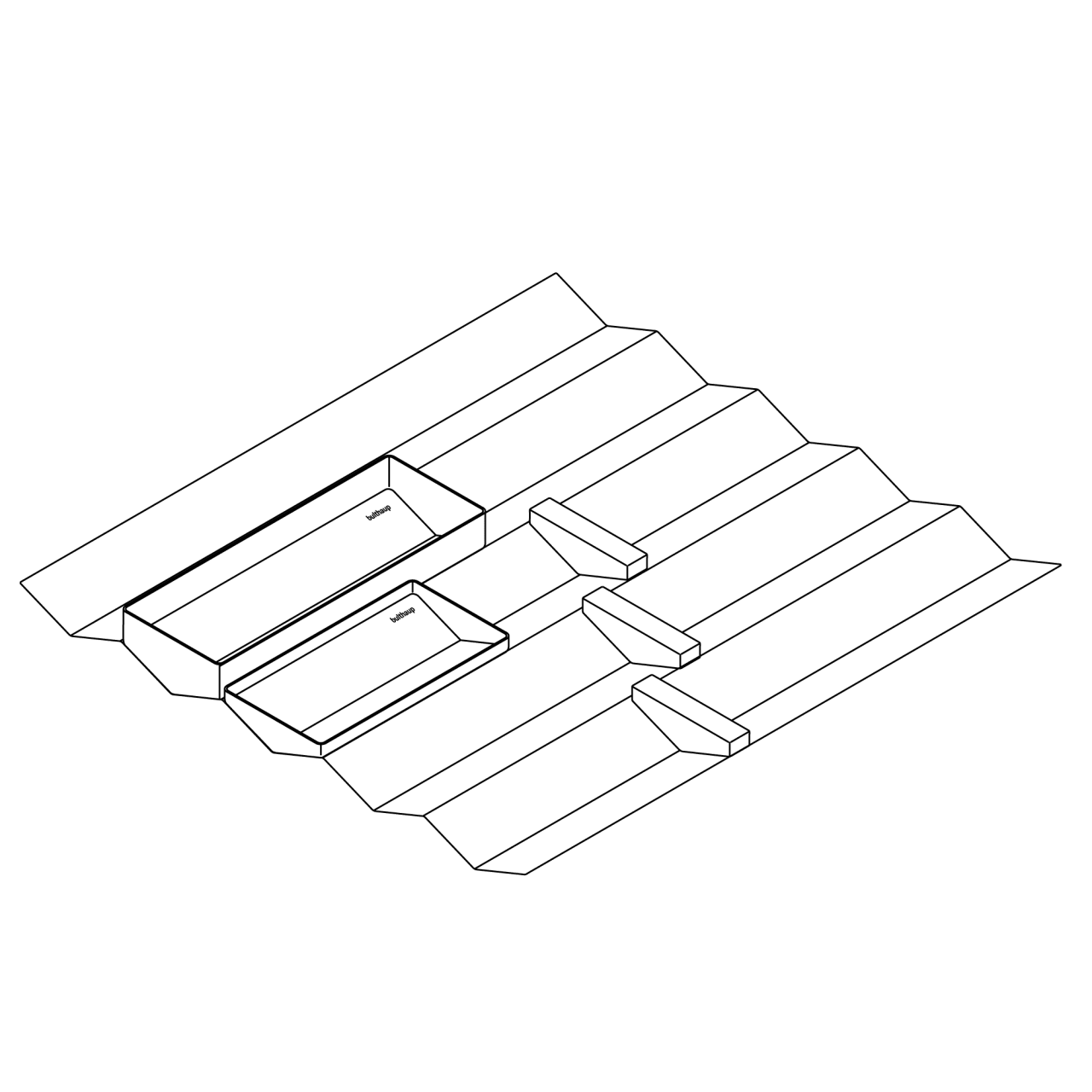 Sets für Aufbewahrung von Besteck im Schub