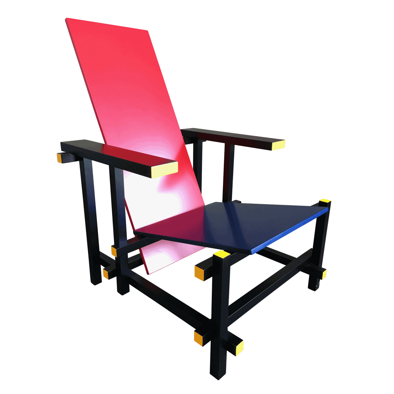 Sessel 635 03 Red and Blue/Black Version