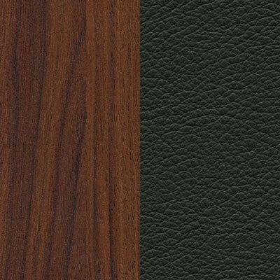 Nussbaum, schwarz pigmentiert/Leder Premium braun