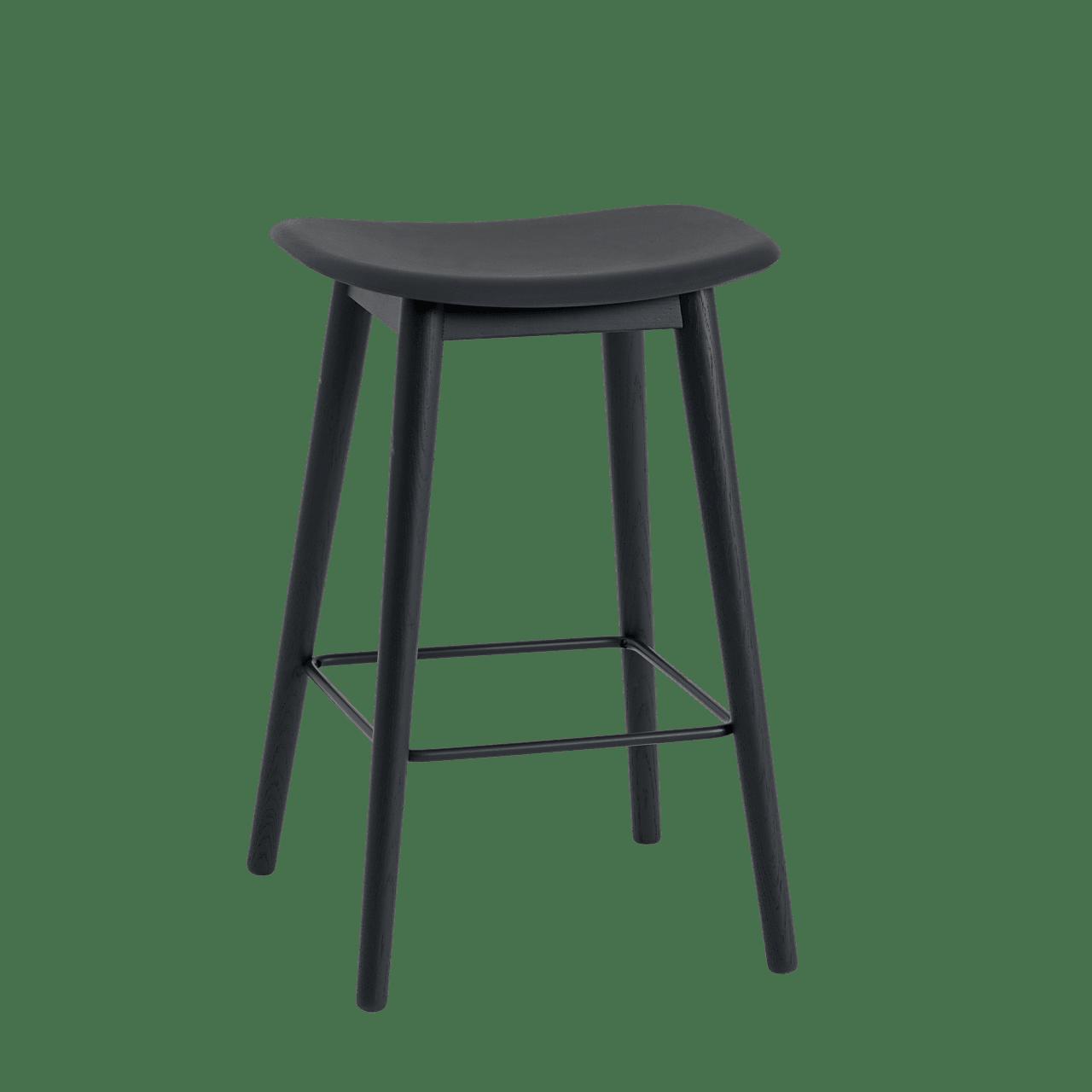 Fiber Barhocker Holzgestell