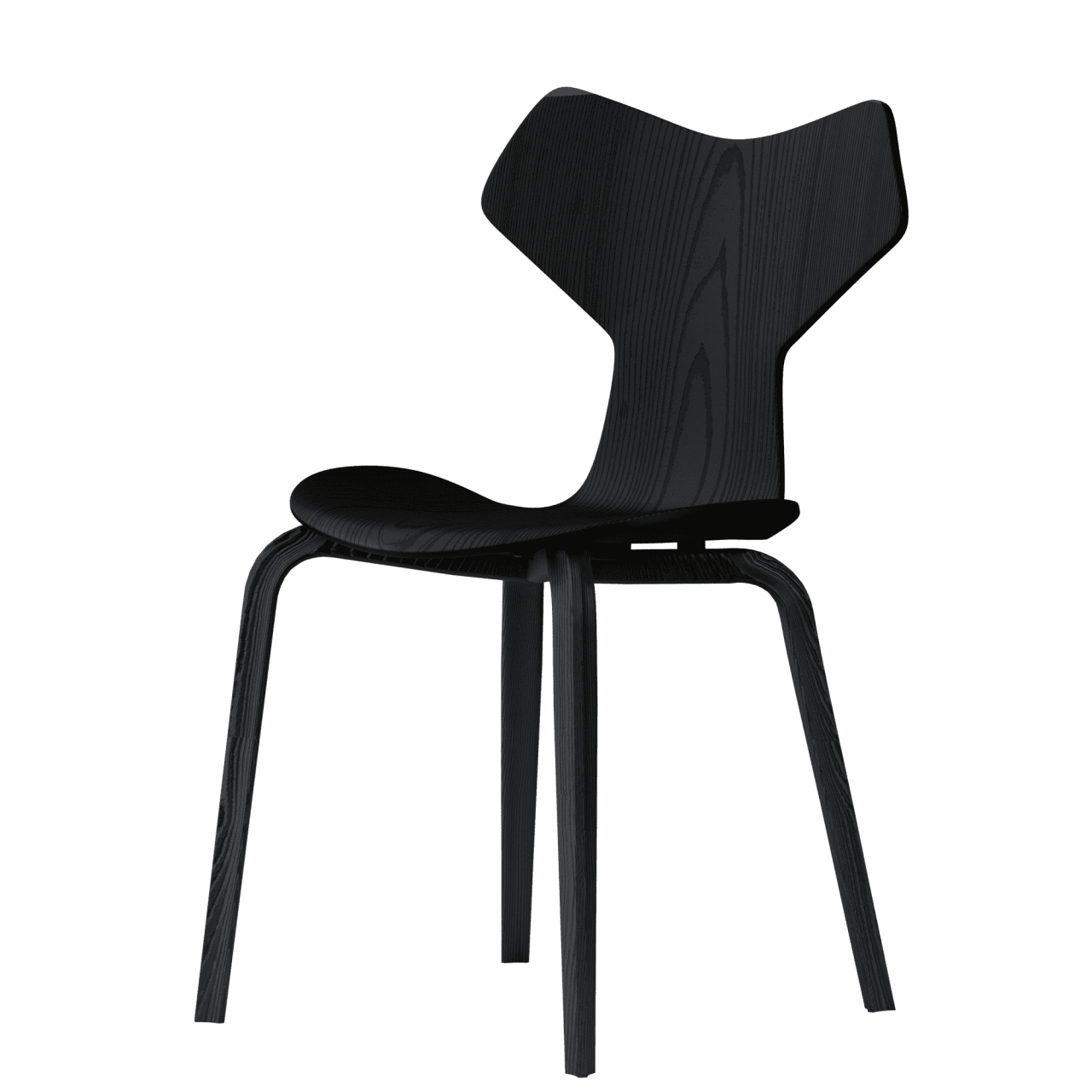 3130 Grand Prix Stuhl mit Holzgestell