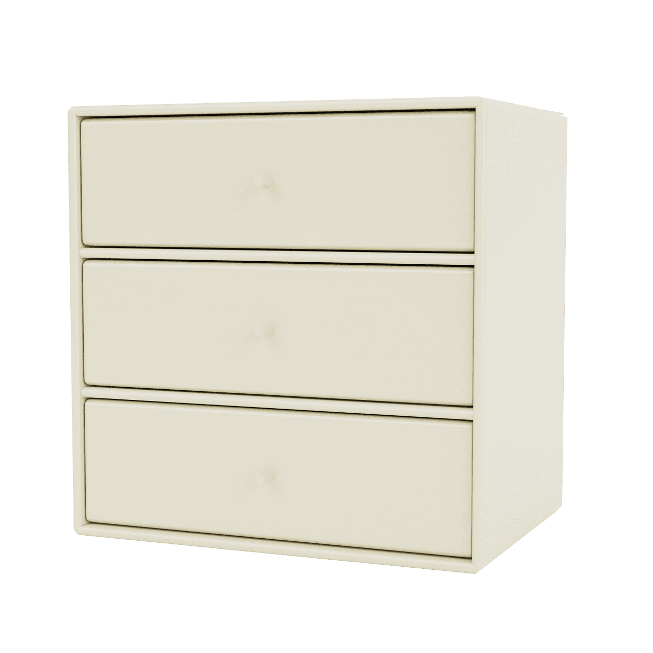 Mini 1007 Wandregal mit drei Schubladen