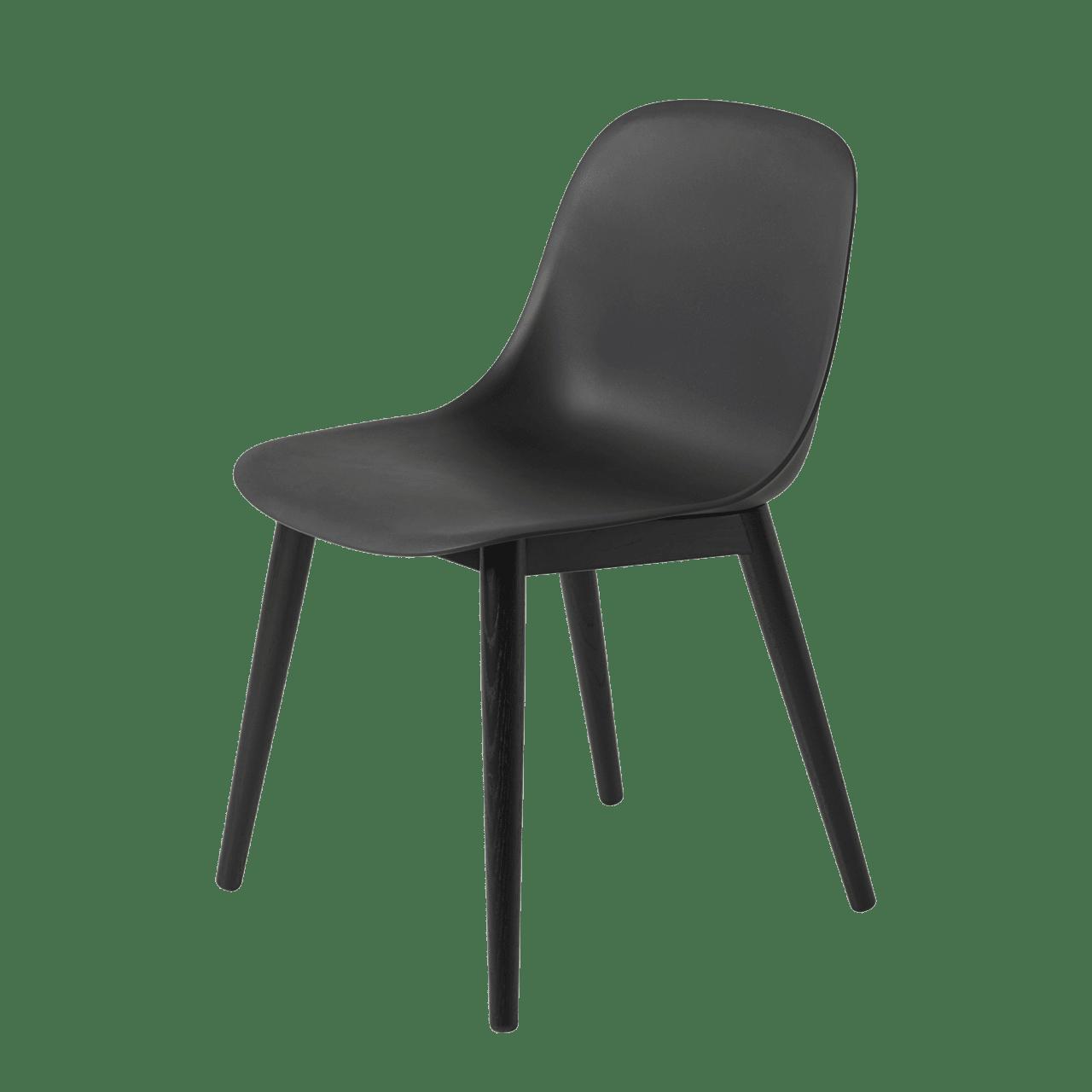 Fiber Stuhl Holzgestell