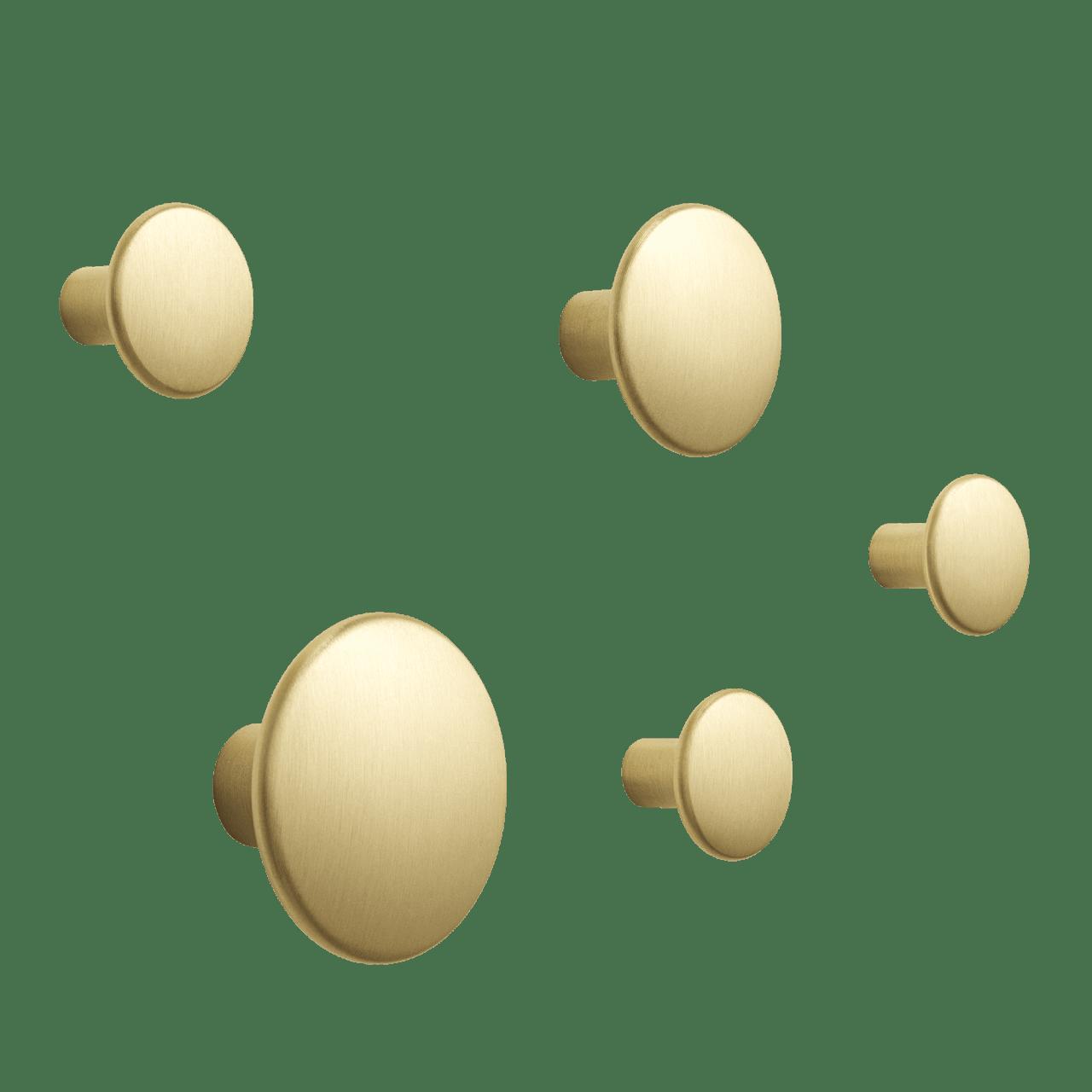 The Dots Metal Kleiderhaken - Set of 5