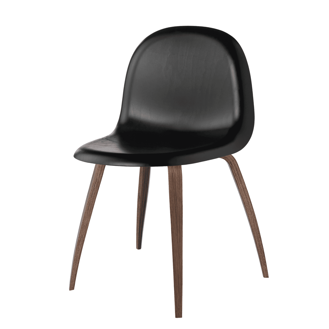 3D Dining Chair Vierbeinholzgestell