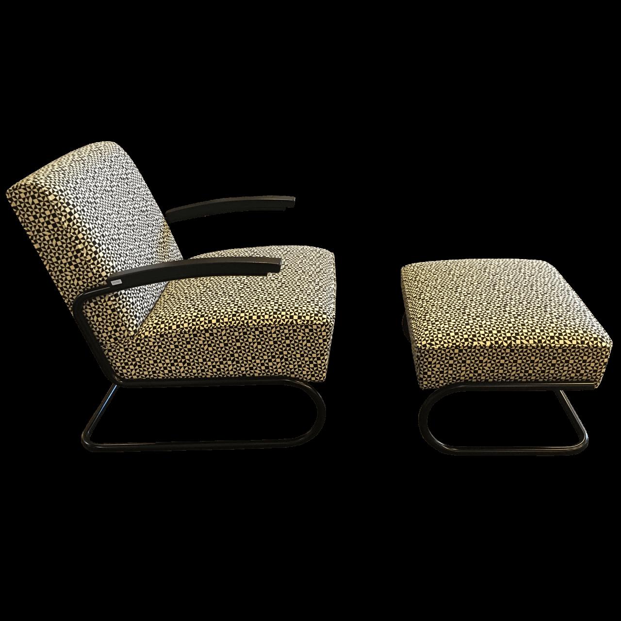 Sessel S 411 mit Hocker S 411 H