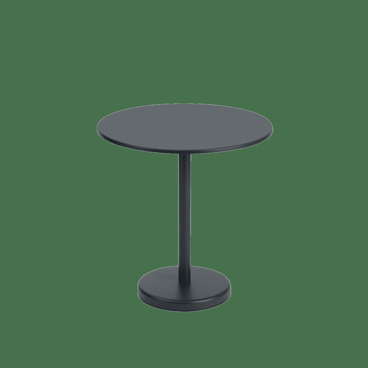 Linear Steel Café Tisch rund