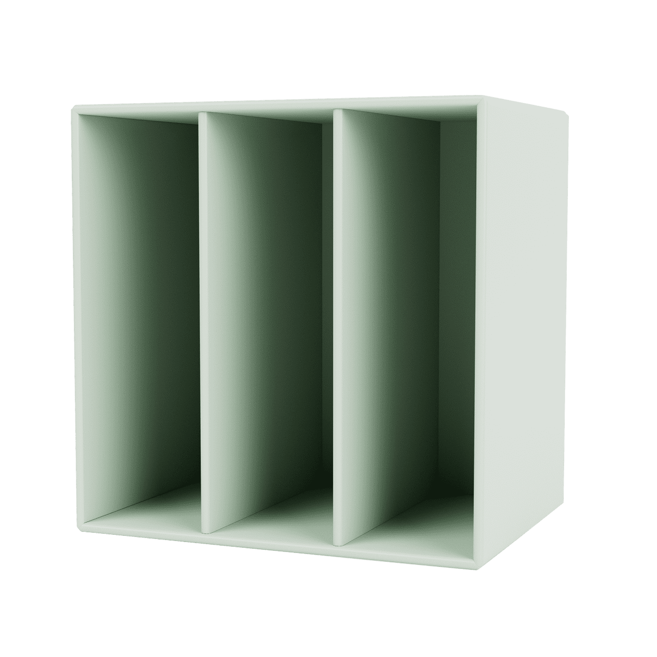 Mini 1104 Wandregal mit vertikalen Fächern