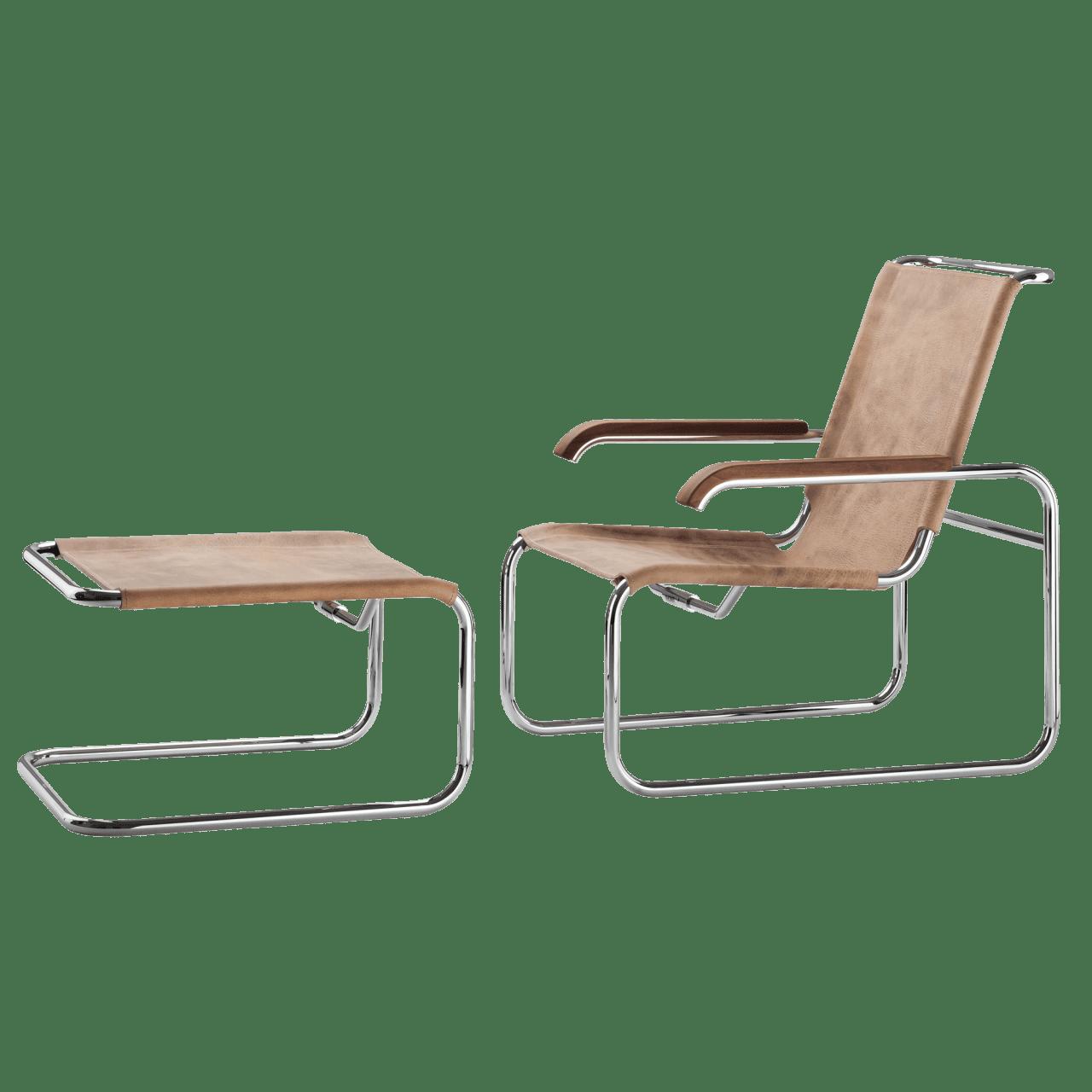 S 35 Sessel mit Hocker