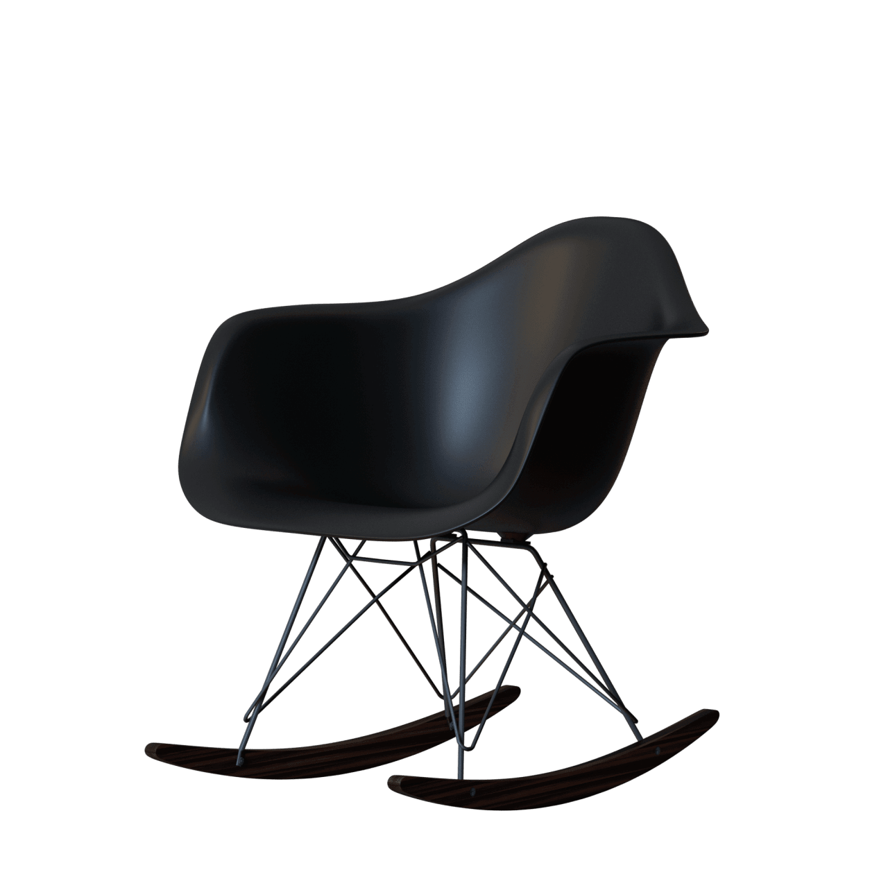 RAR Eames Plastic Chair Schaukelstuhl alte Version