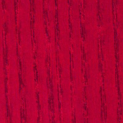 Esche, rot gebeizt
